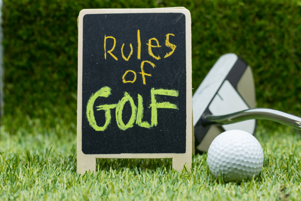 rules of golf sign