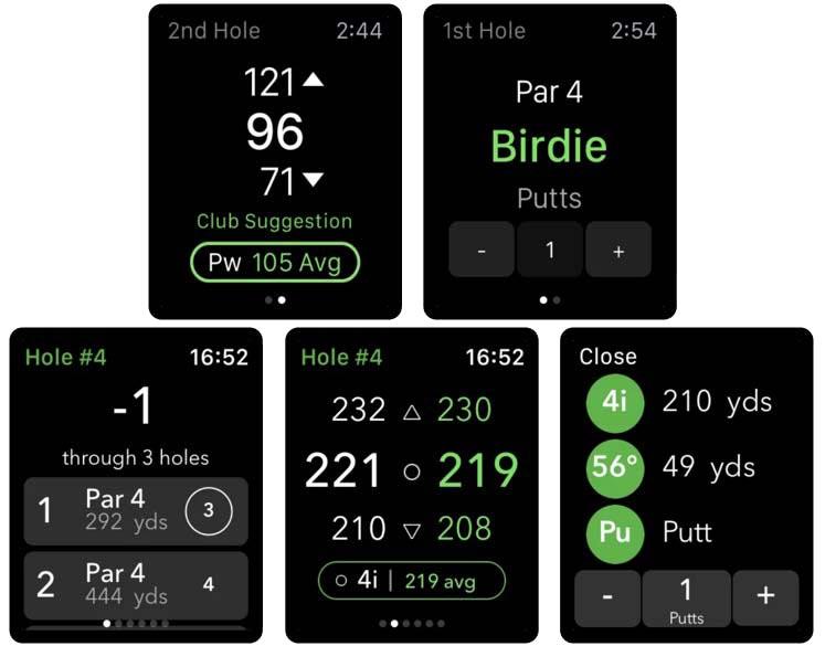 arccos caddie apple watch app