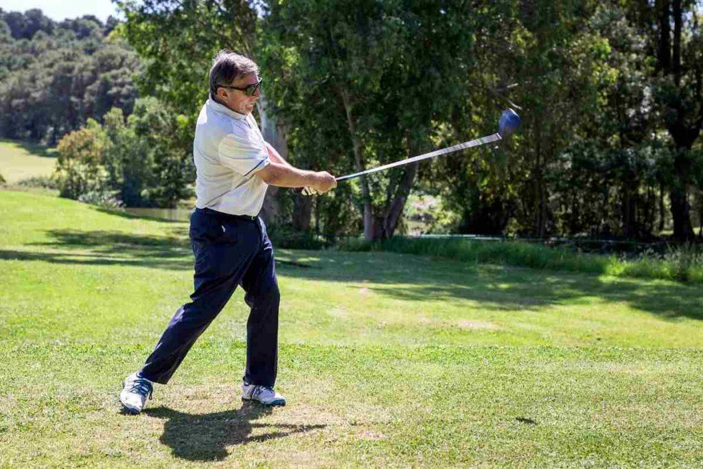 senior golf swing