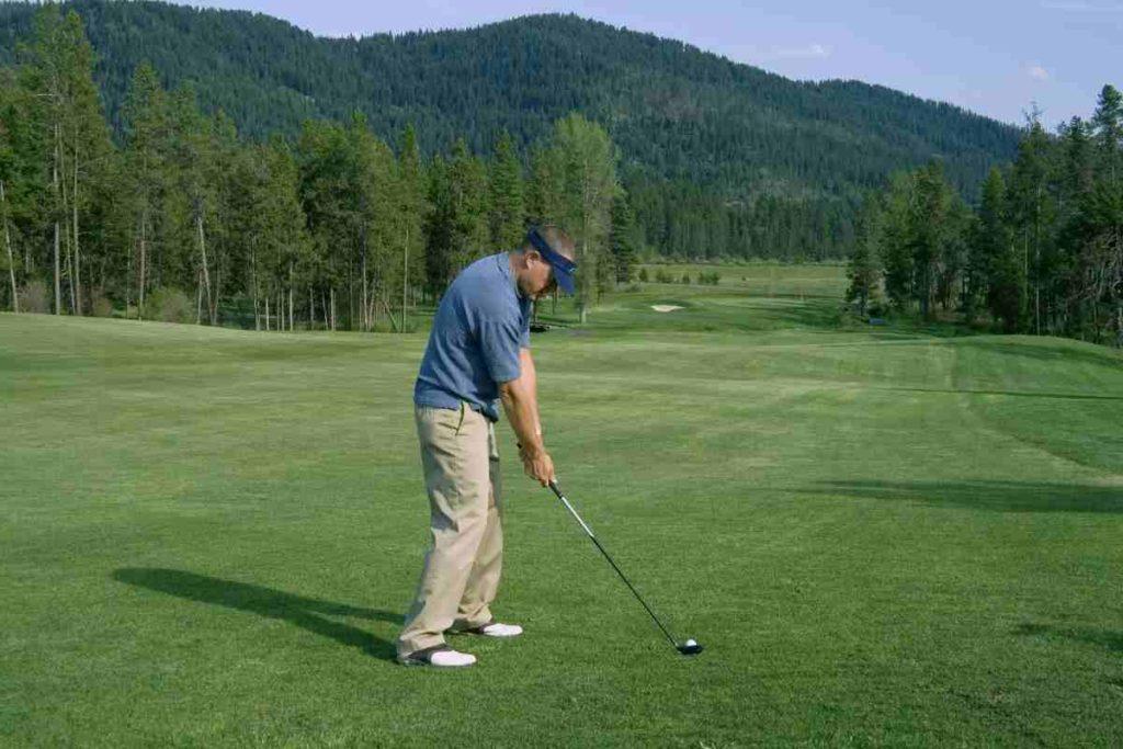 golf hybrid in the fairway