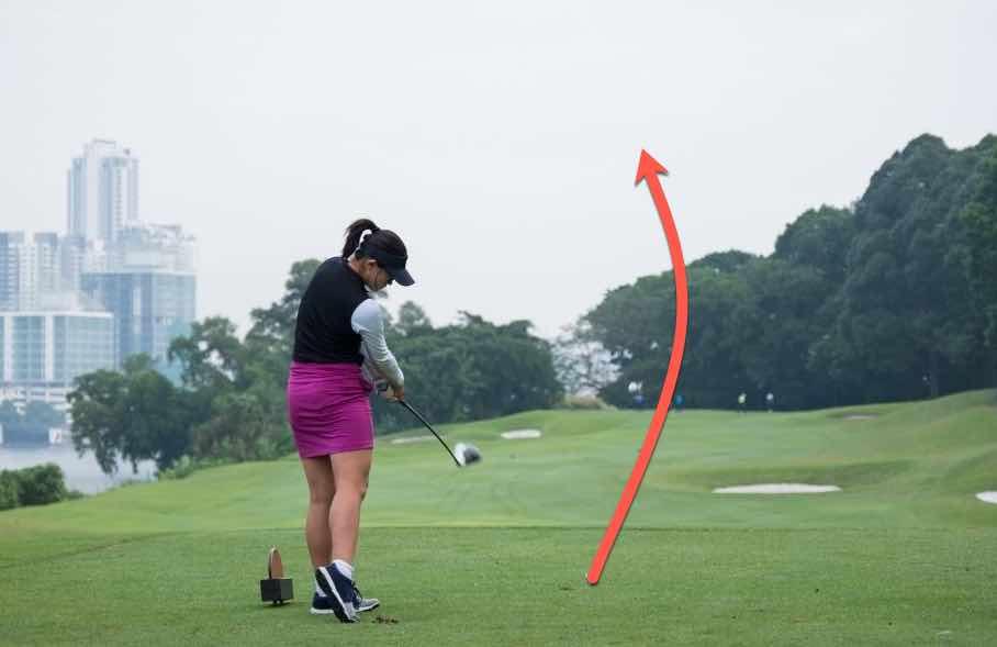 golf draw shot