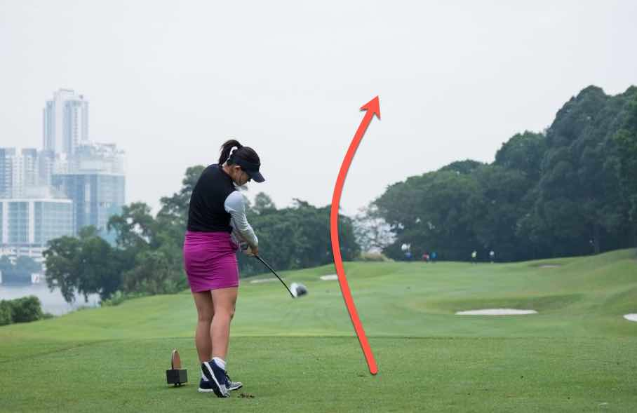 golf fade shot